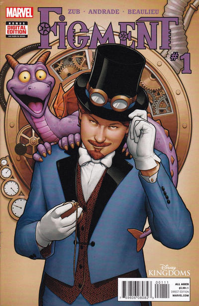 Cover for Disney Kingdoms: Figment (Marvel, 2014 series) #1 [Second Printing]