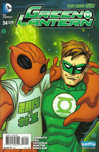 Cover Thumbnail for Green Lantern (DC, 2011 series) #34 [Selfie Variant Cover]