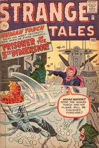Cover Thumbnail for Strange Tales (Marvel, 1951 series) #103 [British]