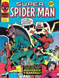 Cover Thumbnail for Super Spider-Man (Marvel UK, 1976 series) #271