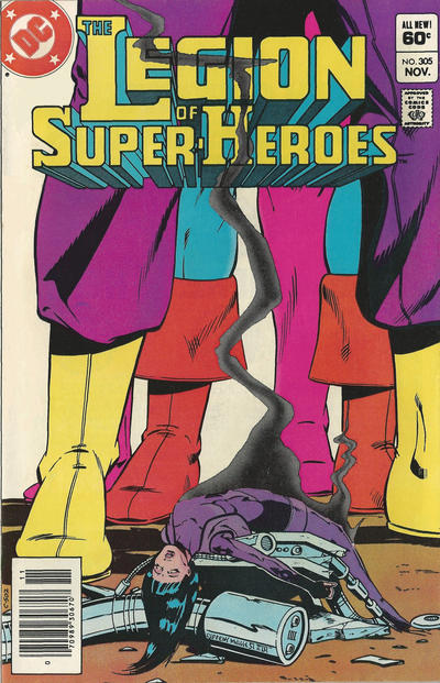 Cover for The Legion of Super-Heroes (DC, 1980 series) #305 [Direct]