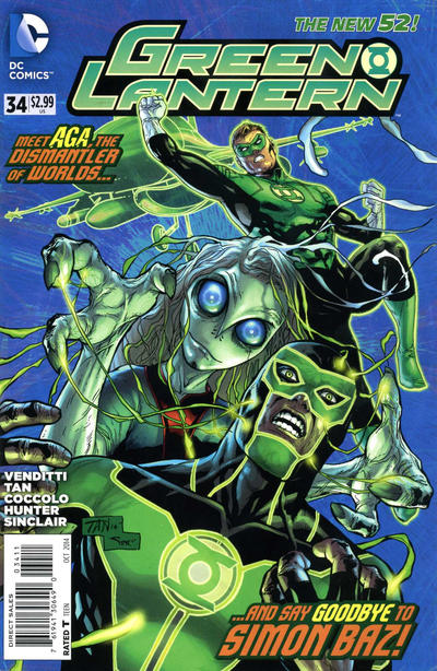 Cover for Green Lantern (DC, 2011 series) #34 [Selfie Variant Cover]