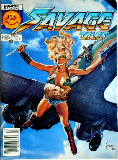 Cover for Savage Tales (Marvel, 1985 series) #8 [Newsstand]