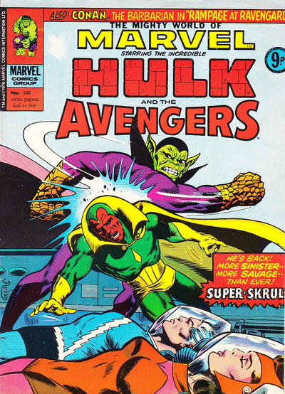Cover for The Mighty World of Marvel (Marvel UK, 1972 series) #202