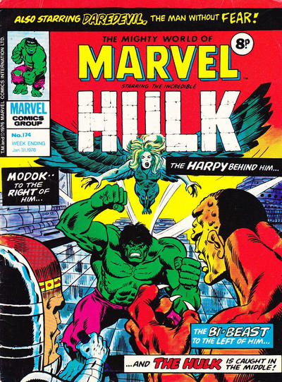 Cover for The Mighty World of Marvel (Marvel UK, 1972 series) #174