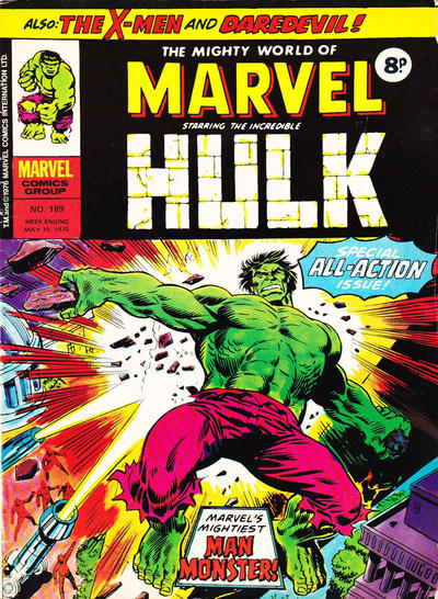 Cover for The Mighty World of Marvel (Marvel UK, 1972 series) #189