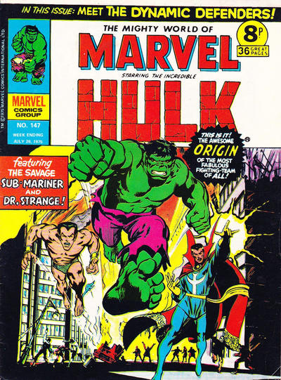 Cover for The Mighty World of Marvel (Marvel UK, 1972 series) #147