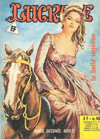 Cover Thumbnail for Lucrece (Elvifrance, 1972 series) #40
