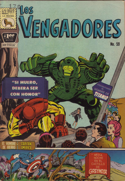 Cover for Los Vengadores (Editora de Periódicos La Prensa S.C.L., 1965 series) #59