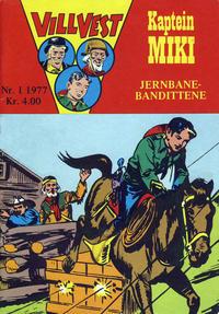 Cover Thumbnail for Vill Vest (Serieforlaget / Se-Bladene / Stabenfeldt, 1953 series) #1/1977