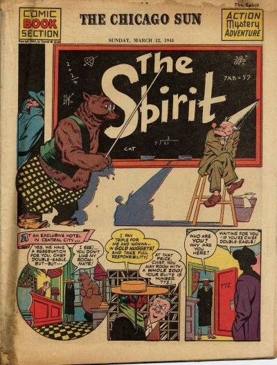Cover for The Spirit (Register and Tribune Syndicate, 1940 series) #3/12/1944