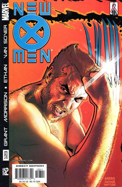 Cover for New X-Men (Marvel, 2001 series) #123 [Direct Edition]