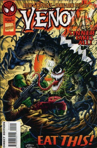 Cover for Venom: Sinner Takes All (Marvel, 1995 series) #2