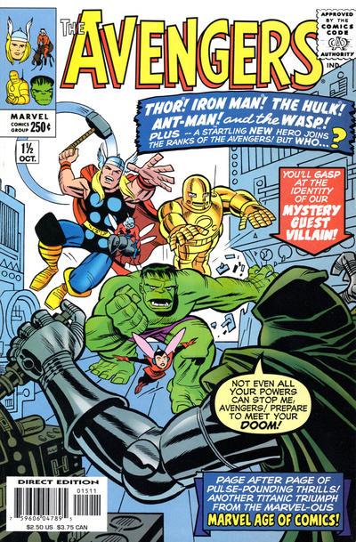Cover for The Avengers (Marvel, 1999 series) #1 1/2
