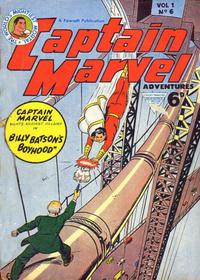 Cover Thumbnail for Captain Marvel [Captain Marvel Adventures] (L. Miller & Son, 1953 series) #v1#6
