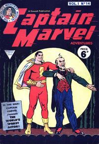 Cover Thumbnail for Captain Marvel [Captain Marvel Adventures] (L. Miller & Son, 1953 series) #v1#14