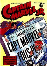Cover Thumbnail for Captain Marvel Jr. (L. Miller & Son, 1953 series) #6