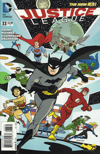 Cover Thumbnail for Justice League (DC, 2011 series) #33 [Batman 75th Anniversary Cover]
