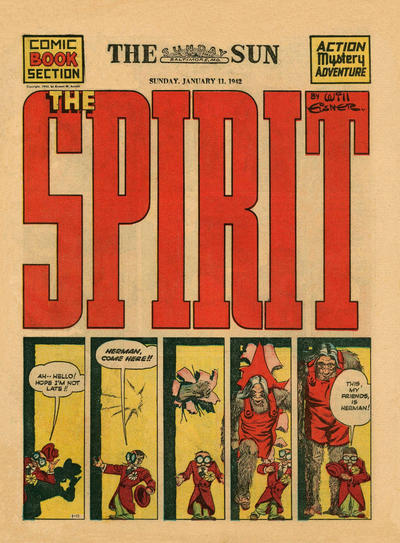 Cover for The Spirit (Register and Tribune Syndicate, 1940 series) #1/11/1942