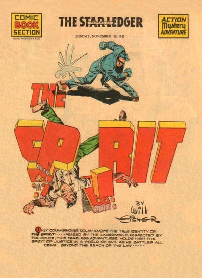 Cover for The Spirit (Register and Tribune Syndicate, 1940 series) #11/30/1941