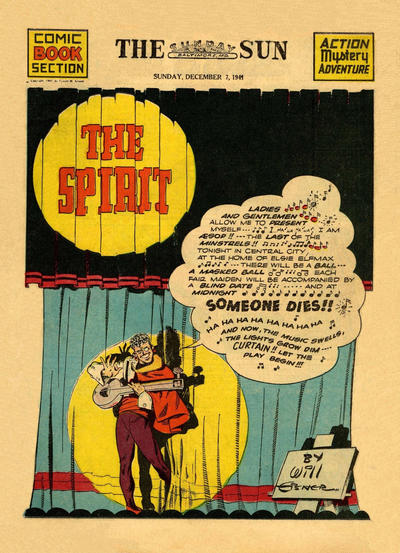 Cover for The Spirit (Register and Tribune Syndicate, 1940 series) #12/7/1941