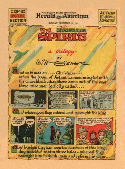 Cover for The Spirit (Register and Tribune Syndicate, 1940 series) #12/28/1941 [Newark NJ Star Ledger edition]