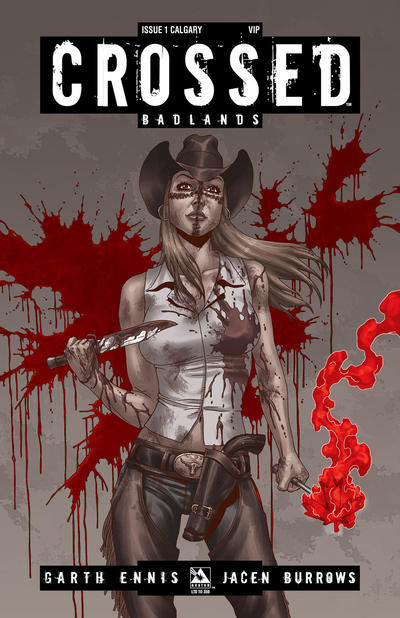 Cover for Crossed Badlands (Avatar Press, 2012 series) #1 [2012 Calgary Comic and Entertainment Expo Exclusive Calgary Cover - Jacen Burrows]