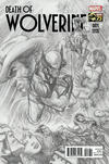 Cover Thumbnail for Death of Wolverine (2014 series) #1 [Alex Ross 75th Anniversary Sketch Variant]