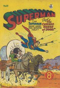 Cover Thumbnail for Superman (K. G. Murray, 1947 series) #81