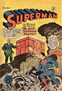Cover Thumbnail for Superman (K. G. Murray, 1947 series) #83