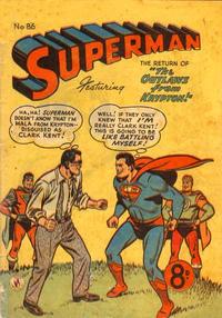 Cover Thumbnail for Superman (K. G. Murray, 1947 series) #86