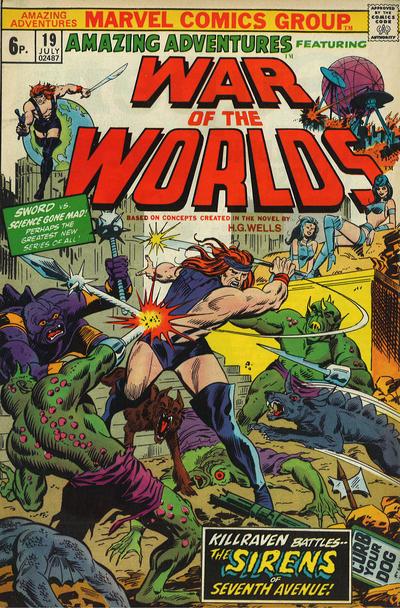 Cover for Amazing Adventures (Marvel, 1970 series) #19 [British]