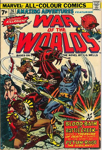 Cover for Amazing Adventures (Marvel, 1970 series) #26 [British]