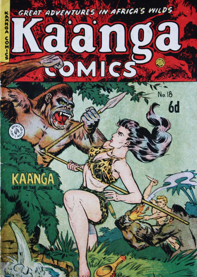 Cover for Kaänga Comics (H. John Edwards, 1950 ? series) #18