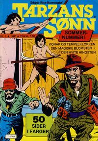 Cover Thumbnail for Tarzans Sønn (Atlantic Forlag, 1979 series) #7/1980