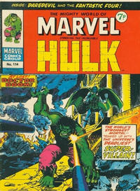 Cover Thumbnail for The Mighty World of Marvel (Marvel UK, 1972 series) #114