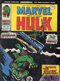 Cover Thumbnail for The Mighty World of Marvel (Marvel UK, 1972 series) #104