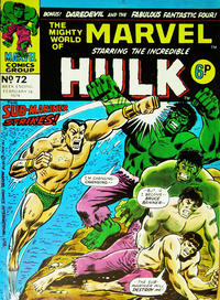 Cover Thumbnail for The Mighty World of Marvel (Marvel UK, 1972 series) #72