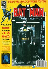 Cover Thumbnail for Batman Monthly (Egmont UK, 1988 series) #13