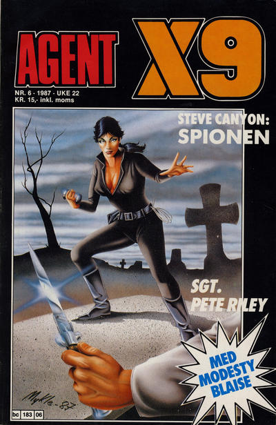 Cover for Agent X9 (Semic, 1976 series) #6/1987