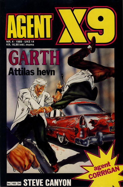 Cover for Agent X9 (Semic, 1976 series) #4/1989