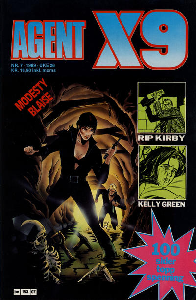 Cover for Agent X9 (Semic, 1976 series) #7/1989