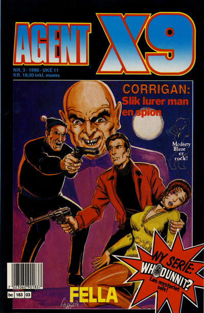 Cover for Agent X9 (Semic, 1976 series) #3/1990