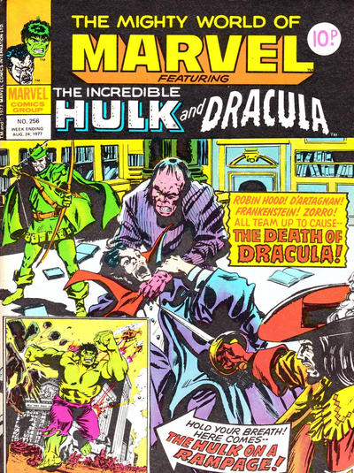 Cover for The Mighty World of Marvel (Marvel UK, 1972 series) #256