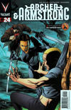 Cover for Archer and Armstrong (Valiant Entertainment, 2012 series) #24 [Cover A - Clayton Henry]