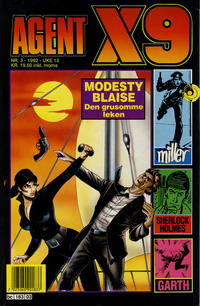 Cover Thumbnail for Agent X9 (Semic, 1976 series) #3/1992