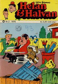 Cover Thumbnail for Helan og Halvan (Illustrerte Klassikere / Williams Forlag, 1963 series) #2/1976