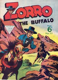 Cover Thumbnail for Zorro (L. Miller & Son, 1952 series) #77