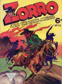 Cover Thumbnail for Zorro (L. Miller & Son, 1952 series) #75