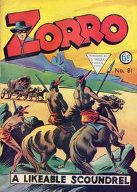 Cover Thumbnail for Zorro (L. Miller & Son, 1952 series) #81
